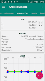 Hardware Sensors for Android Screenshot