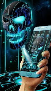 Neon Tech Evil Skull 3D Theme 1.1.20 MOD for Android (Unlocked) 1