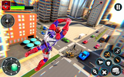 Flying Robot Hero – Crime City Rescue Robot Games 9