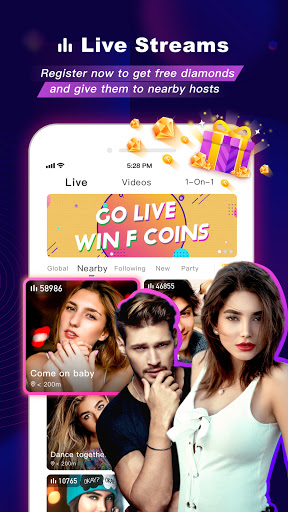 FaceCast:Make New Friends, Chat & Meet, Livestream android2mod screenshots 2