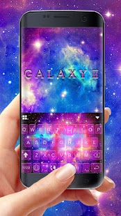 Galaxy Starry Keyboard Background Screenshot