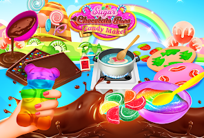 Sweet Rainbow Candy Cooking & Chocolate Candy Bars