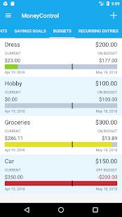 MoneyControl Expense Tracking
