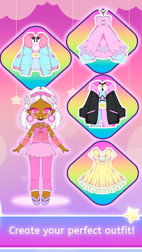 Mimistar - Pastel chibi doll girl dress up maker  screenshots 11