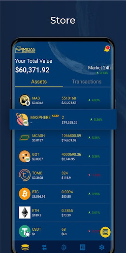 Midas Crypto Wallet: Bitcoin, Ethereum, XRP, EOS 1.9.5 Screenshots 4