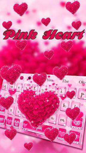 love heart keyboard theme screenshot 1