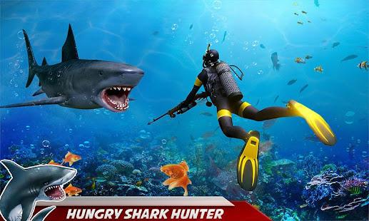 angry shark attack: deep sea shark hunting games hack