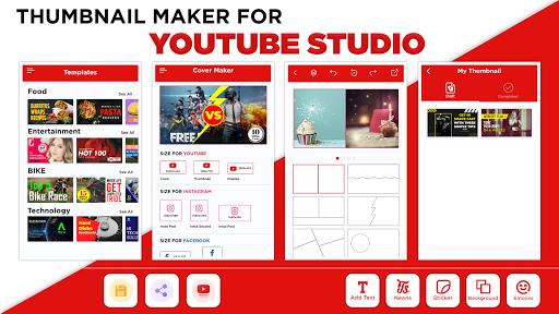Thumbnail Maker - Create Banners & Channel Art  screenshots 1