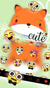 Cute Cartoon Fox Keyboard Theme 1.0 Download APK Mod 3