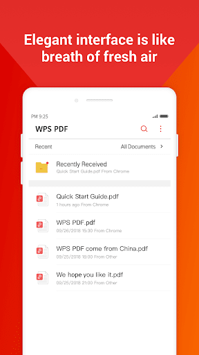 WPS PDF -  Free For PDF Scan, Read, Edit, Convert 1.8.9 Screenshots 3