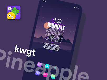 Pineapple KWGT 4.8 Apk 4