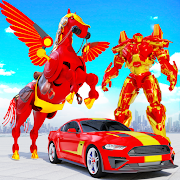 Flying Muscle Car Robot Transform Horse Robot Game