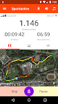 screenshot of Sportractive GPS Running Cycling Distance Tracker