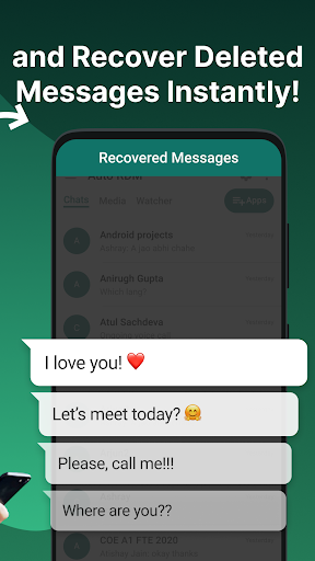 Auto RDM - Recover Deleted Messages: WA Recovery apktram screenshots 2