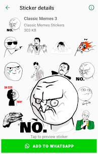 Classic Memes Stickers for WhatsApp WAStickerApps Apk Download 2021 3