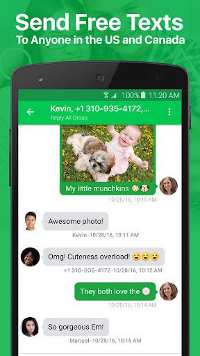 textPlus: Free Text & Calls 7.7.1 screenshots 1