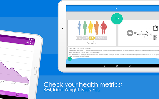 Weight Diary - Weight Loss Tracker, BMI, Body Fat 3.6.0.1 Screenshots 9