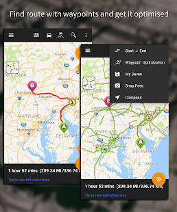 Driving Route Finder™ - Find GPS Location & Routes Screenshot
