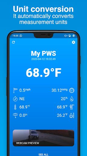 PWS Watcher u26c5ufe0f Personal Weather Station Monitoring 1.10.11 Screenshots 5