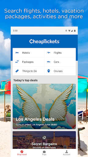 CheapTickets – Hotel, Flight, Car & Travel Deals  screenshots 1