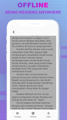 Code Triche LovNovel -  Melayu & Indonesian Novel (Astuce) APK MOD screenshots 4