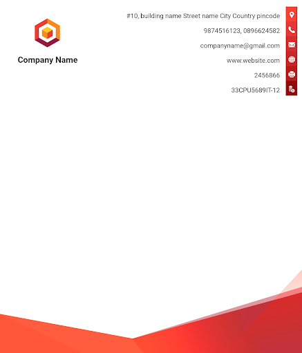 Letterhead Maker Business letter pad template Logo 1.7 Screenshots 11