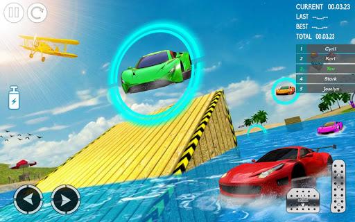 Water Car Stunt Racing 2019: 3D Cars Stunt Games 2.0 screenshots 4