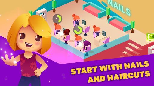 Idle Beauty Salon: Hair and nails parlor simulator apkslow screenshots 7