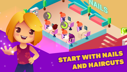 Idle Beauty Salon: Hair and nails parlor Mod Apk (Unlimited Money) 7