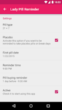 Lady Pill Reminder  ® screenshot thumbnail