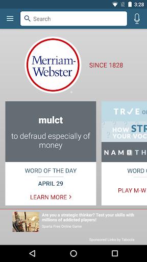 Foto do Dictionary - Merriam-Webster