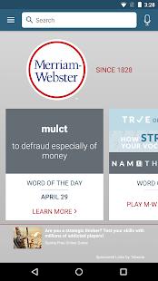 Dictionary - Merriam-Webster Screenshot