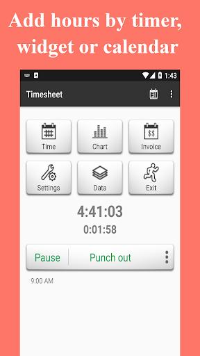 Timesheet - Time Card - Work Hours - Work Log apktram screenshots 1