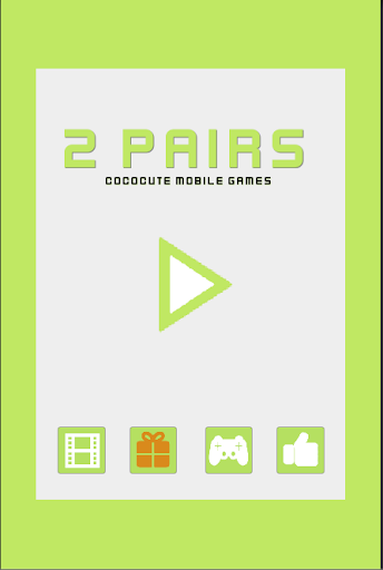 2 pairs : card matching game screenshot 1