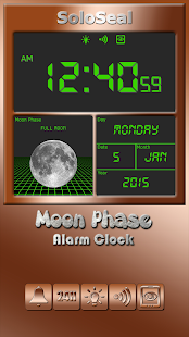 Moon Phase Alarm Clock Screenshot