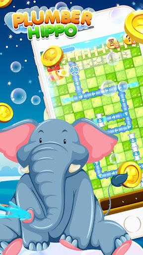 Bathe Hippo - Connect Pipes  screenshots 1
