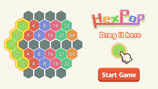 HexPop: Merge number to 2048, Free Puzzle Games apkmartins screenshots 1