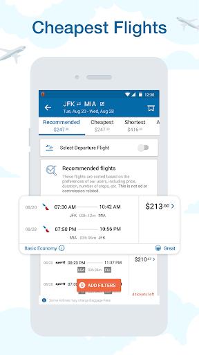 CheapOair: Cheap Flights, Cheap Hotels Booking App 3.20.18 Screenshots 1