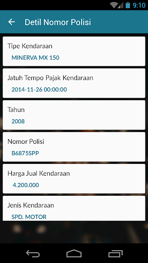 JakTor (Cek Nomor Polisi) 1.1 Screenshots 10