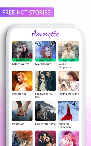 Code Triche Amorette - Free Romance Books (Astuce) APK MOD screenshots 2