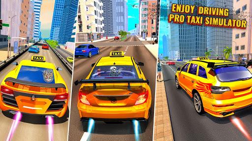Télécharger Pro Taxi Driver : City Car Driving Simulator 2021 mod apk screenshots 2