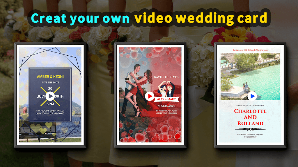 Wedding Card Design & Photo Video Maker With Music  poster 0