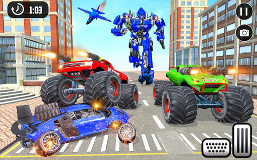 US Police Monster Truck Robot 4.0 Screenshots 12