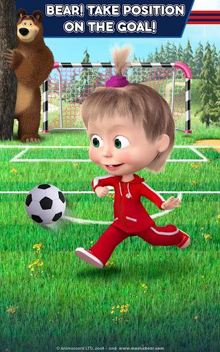 Masha and the Bear: Football Games for kids Apkfinish screenshots 24