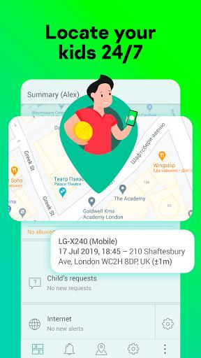 Parental Control & Kids GPS: Kaspersky SafeKids 1.56.0.4 screenshots 1