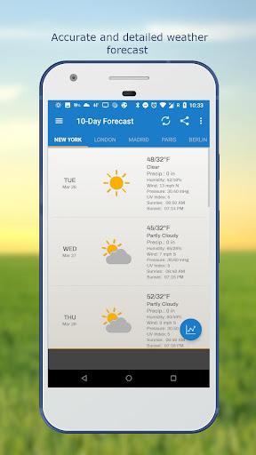 Weather & Clock Widget for Android screenshots 5