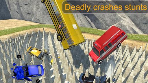 Beam Drive Crash Death Stair Car Crash Simulator 1.0 screenshots 2