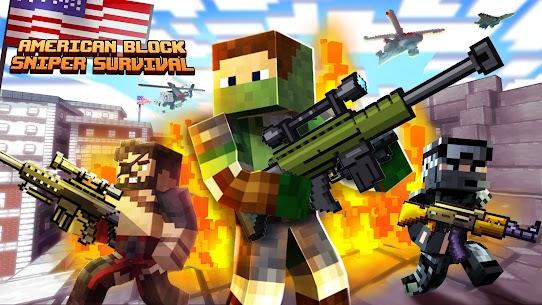 American Block Sniper Survival MOD (Unlocked) 2