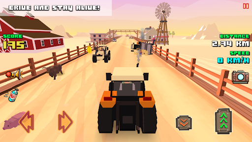 Blocky Farm Racing & Simulator - free driving game 1.37 screenshots 2