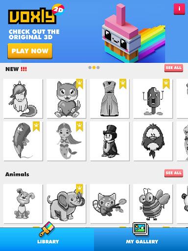 Color by number - Unicorns Pixel Art 2.6 screenshots 6